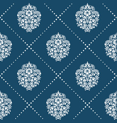 pattern in style victorian baroque vector image vector image