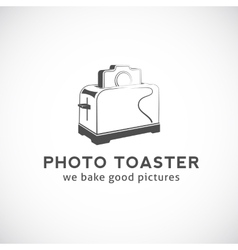 Photo toaster abstract logo template vector