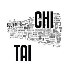 benefits of tai chi to peoples health text word vector image vector image