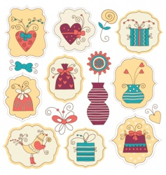 cute holiday element vector image vector image