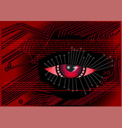 cyber digital background vector image