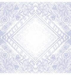 denim floral background vector image