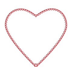 Frame heart the little hearts of red color on a vector image vector image