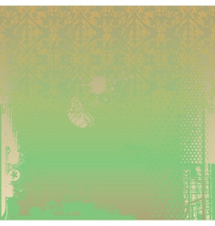 grunge green background vector image vector image