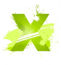 Letter x background vector