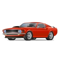 Muscle car cartoon classic poster t-shirt vector image vector image