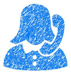 Receptionist grunge icon vector