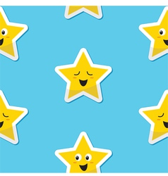SeaSeamless happy stars background for kids vector image vector image