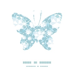 shiny diamonds butterfly silhouette pattern frame vector image
