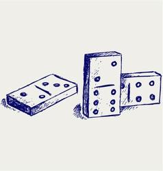 Sketch dominoes vector image vector image