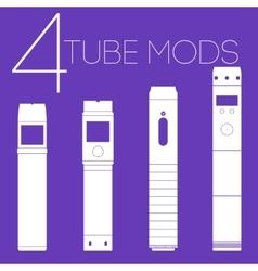4 vaping tube mods set vector