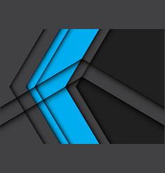 Abstract blue arrow on gray design modern vector