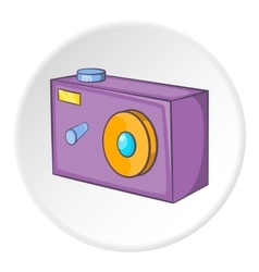 Action camera icon cartoon style vector
