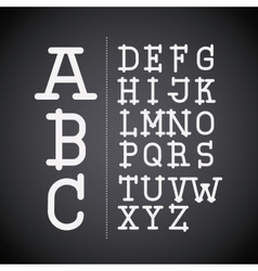 Alphabet written on chalk board design vector