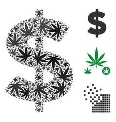 American dollar composition of marijuana vector