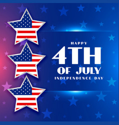 american independence day background for 4th vector image