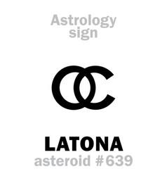 Astrology asteroid latona leto vector