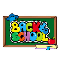 back to school theme 4 vector image