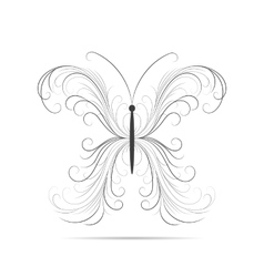 Beautiful swirl pattern in shape of a butterfly vector