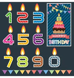 Birthday candle design vector