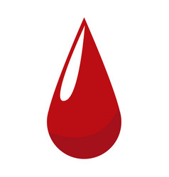 blood drop donation campaing health life vector image