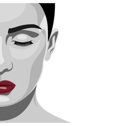 Brunette fashion beauty Woman with red Lips vector image