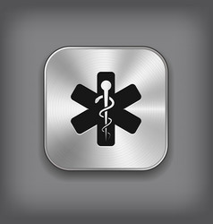 caduceus medical symbol icon vector image