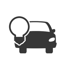 Car with bulb light vector