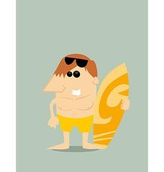 Cartoon surfer vector