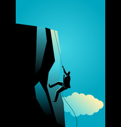 climbing to the top vector image