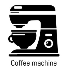 coffee machine icon simple black style vector image