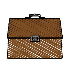 Color crayon stripe cartoon executive briefcase vector