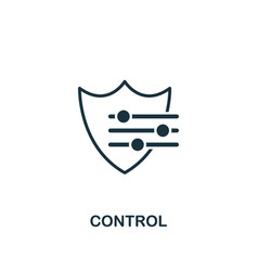 control icon creative element design from risk vector image