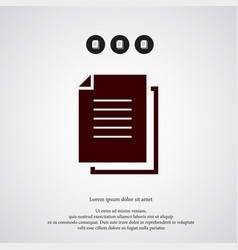 document icon simple sign vector image