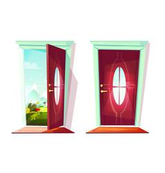 door house entrance vector image