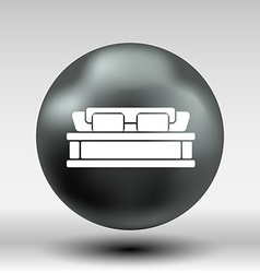 Double bed icon button logo symbol concept vector