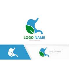 eco stomach logo combination organic vector image