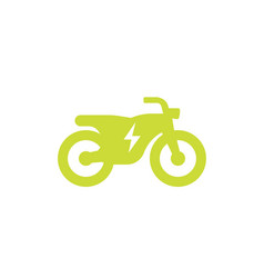 electric bike icon on white vector image
