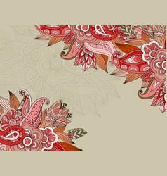 Floral doodle background design vector