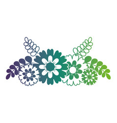 flower leaves and branches natural ornament vector image