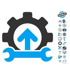 Gear Integration Tools Icon With Air Drone Tools vector