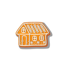 gingerbread house cookie vector image