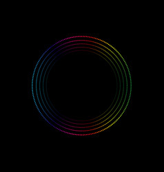 gradient spectrum dots in circle form round logo vector image