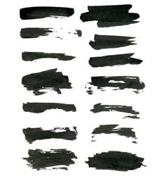 Grunge brush strokes vector image