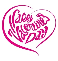 Heart Happy Valentines day Lettering text vector image