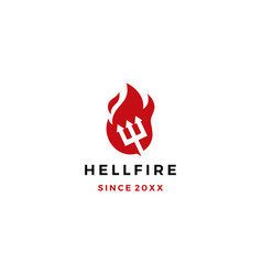 hell fire pitchfork logo icon download vector image
