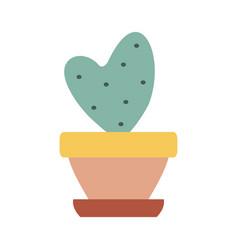 Home cactus icon vector