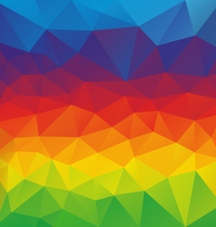 horizontal rainbow spectrum polygon triangular vector image