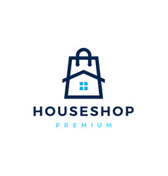 house home shop store logo icon vector image