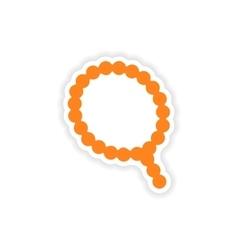 Icon sticker realistic design on paper rosary vector